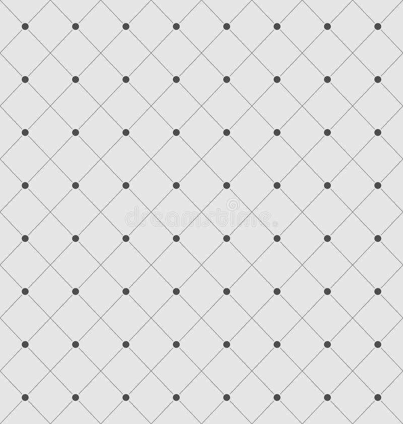 Bezszwowa Geometryczna tekstura z Rhombus i kropkami ilustracja wektor