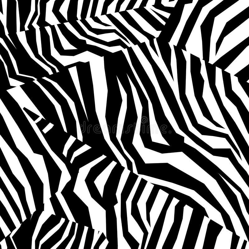 Bezszwowa kolorowa zwierzęcej skóry tekstura zebra royalty ilustracja