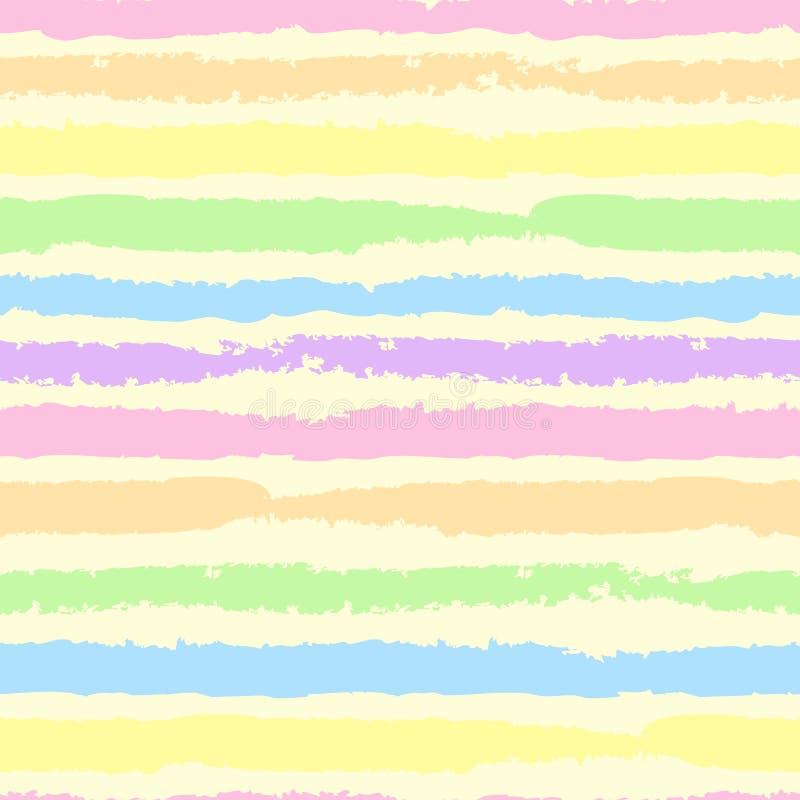 bezszwowa konsystencja Lampasy farba na lekkim tle Wzór dla tkanin, pokrywy, wystrój Dziecka ` s styl ilustracja wektor