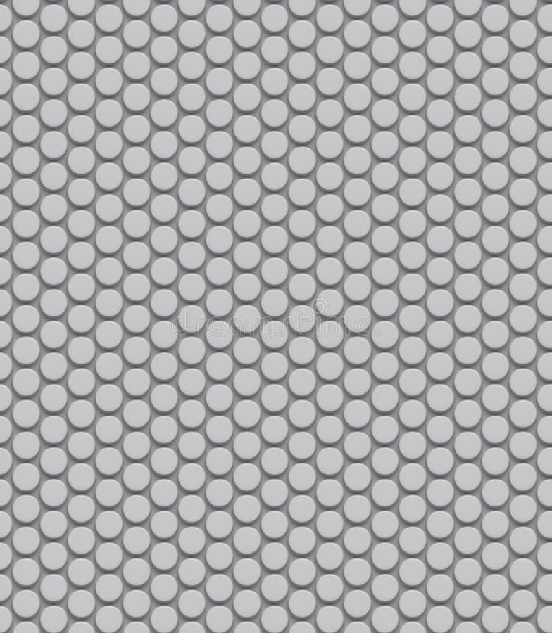 Bezszwowa kropkowana biel ściana ilustracji