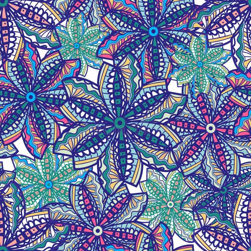 Bezszwowa kwiecista tekstura ilustracja wektor