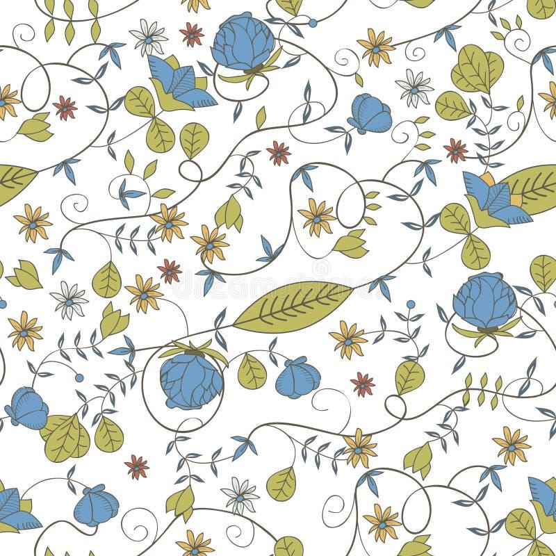 Bezszwowa kwiecista tekstura ilustracji