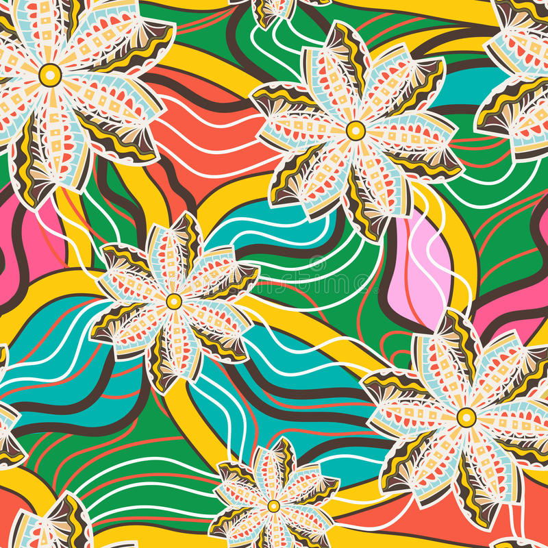 Bezszwowa kwiecista tekstura royalty ilustracja