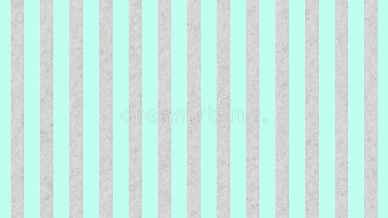 Bezszwowa pastel zieleń Paskuje teksturę w Szarym Grunge tle ilustracja wektor