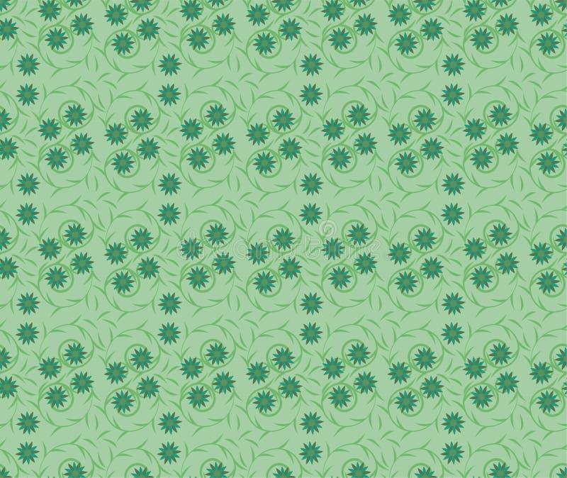 Bezszwowa powtórka Kwitnąca Kwitnie z trzonów i liści wzorem royalty ilustracja