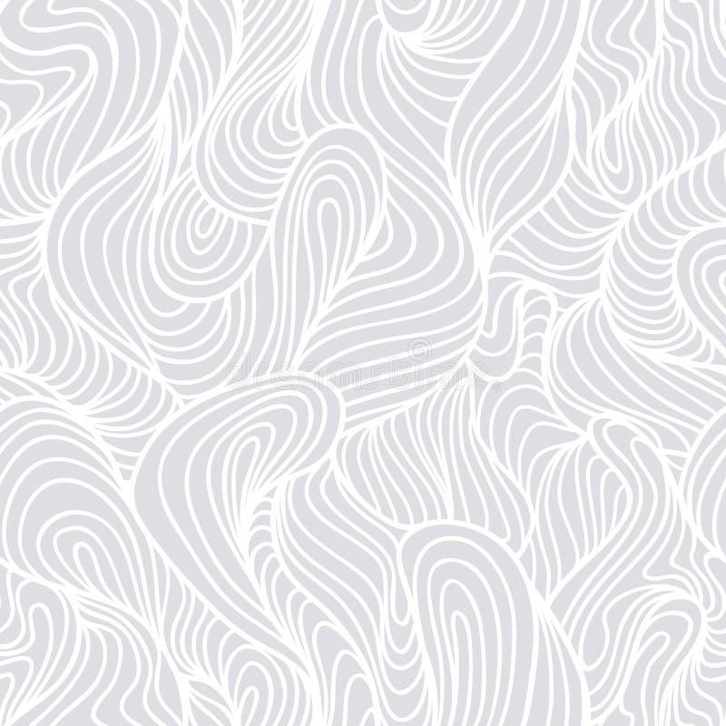 Bezszwowa ręka rysujący abstrakta światła wzór, fali tło royalty ilustracja