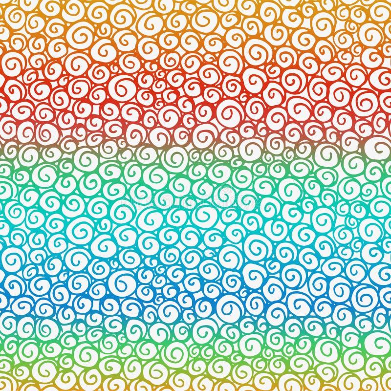 Bezszwowa ręka rysujący doodle grafiki wzór royalty ilustracja