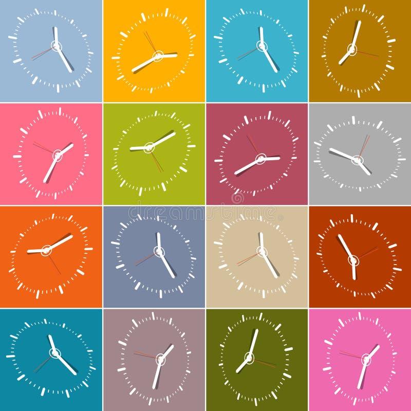 Download Bezszwowa Retro Abstrakcjonistyczna Zegarowa Twarz Ilustracji - Ilustracja złożonej z biznes, okrąg: 57655686