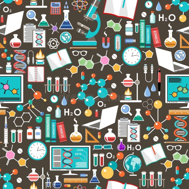Bezszwowa substancja chemiczna i naukowy wzór ilustracja wektor
