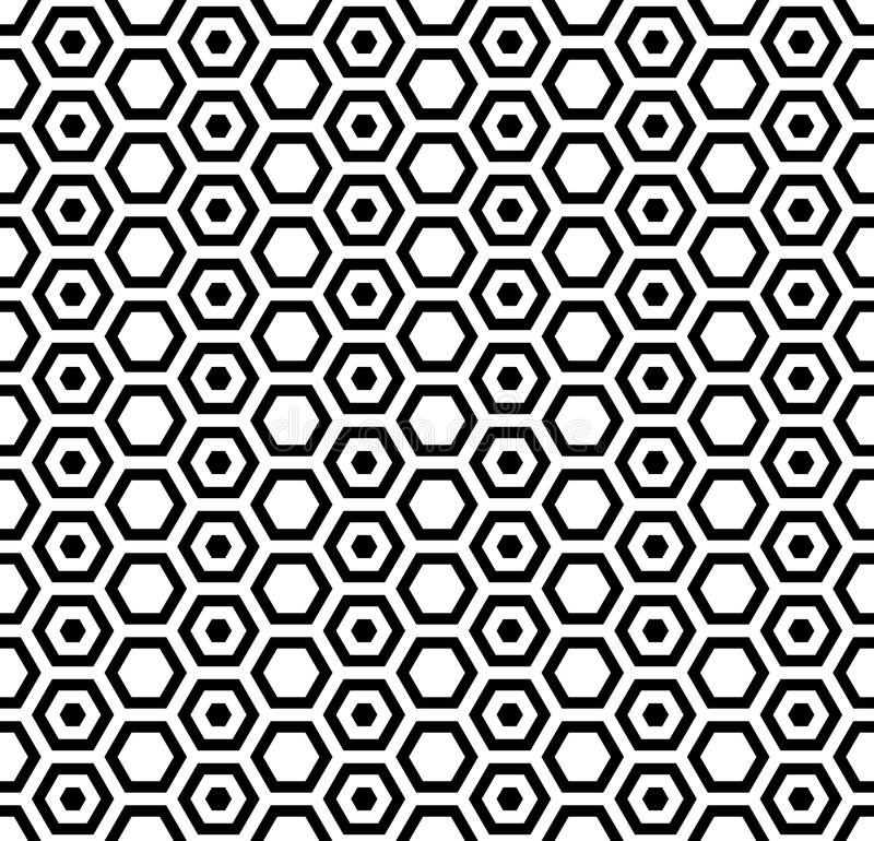 Bezszwowa sześciokąt tekstura najlepszy komputer wytwarzający honeycomb wzoru repicate bezszwowy royalty ilustracja