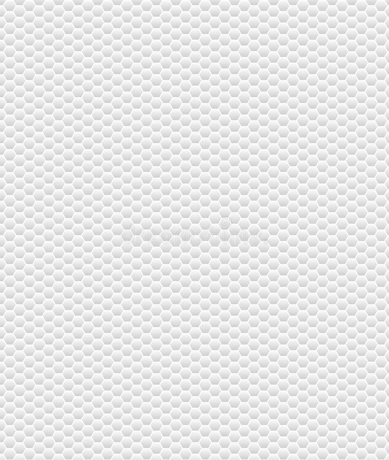 Bezszwowa tło tekstura: Jasnopopielaci i biali sześciokąty royalty ilustracja