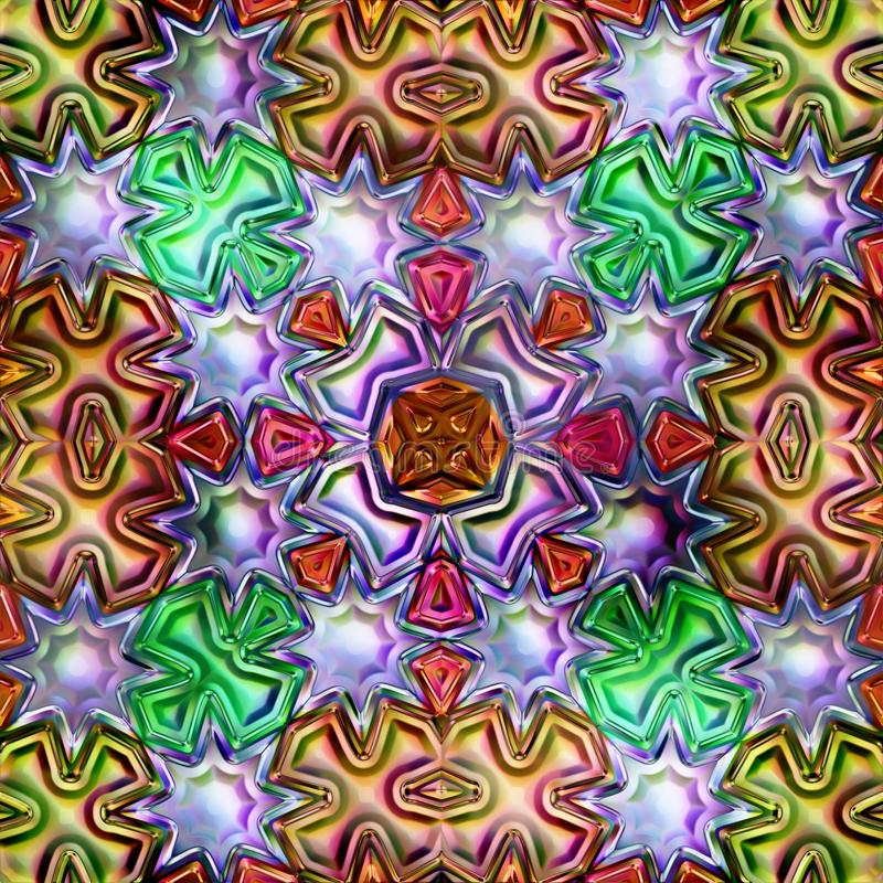 Bezszwowa tekstura abstrakcjonistyczni jaskrawi błyszczący kolorowi geometryczni kształty zdjęcia royalty free