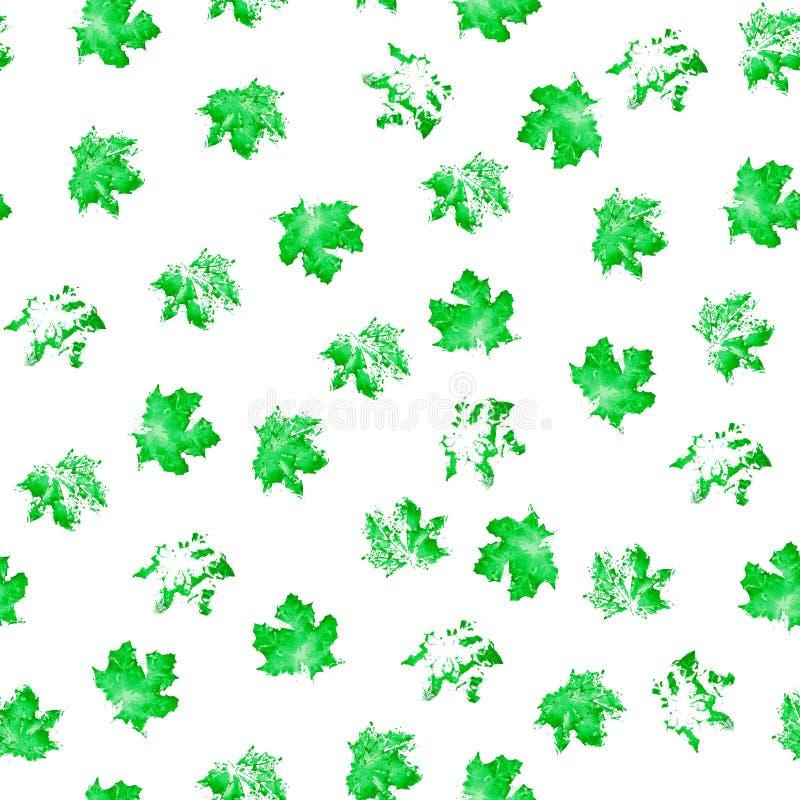 Bezszwowa tekstura akwareli zieleni punkty na białym tle ilustracji