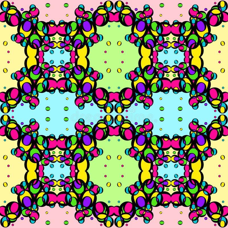 Bezszwowa tekstura barwioni jaskrawi okręgi na kolorowym tle royalty ilustracja