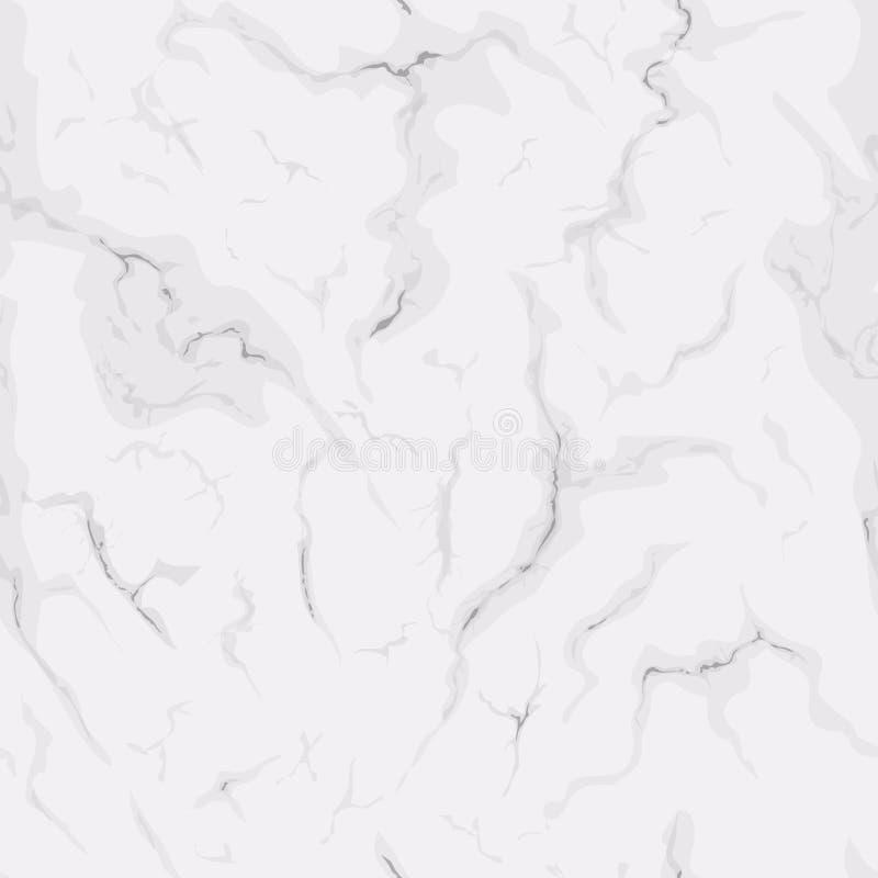 Bezszwowa tekstura bielu marmur Naturalny deseniowy tło dla projekta royalty ilustracja