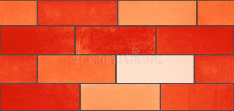 Bezszwowa tekstura od czerwonych ceramicznych cegieł zdjęcia royalty free