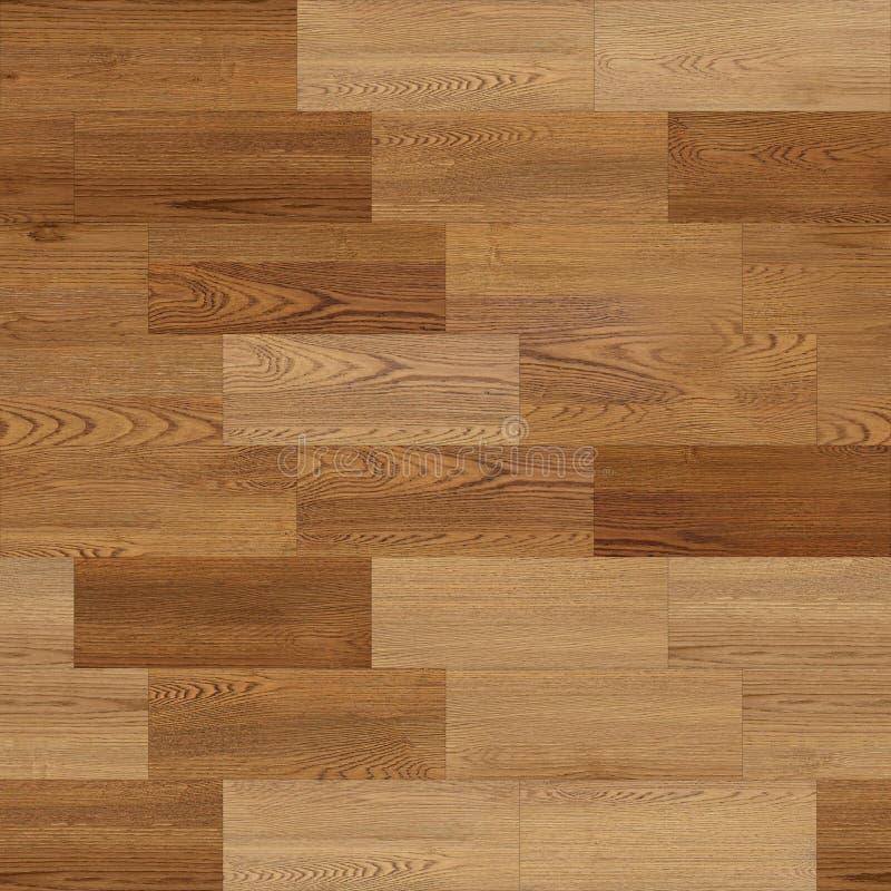 Bezszwowa tekstura parkietu drzewnego, liniowa, brązowa ilustracja wektor