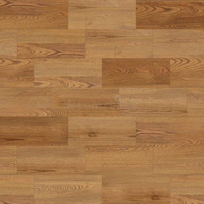 Bezszwowa tekstura parkietu drzewnego, liniowa, brązowa ilustracji