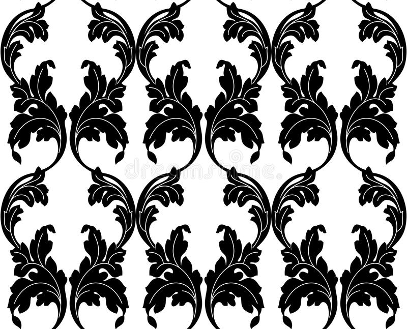 Bezszwowa tekstura w stylu Damaszek ilustracji