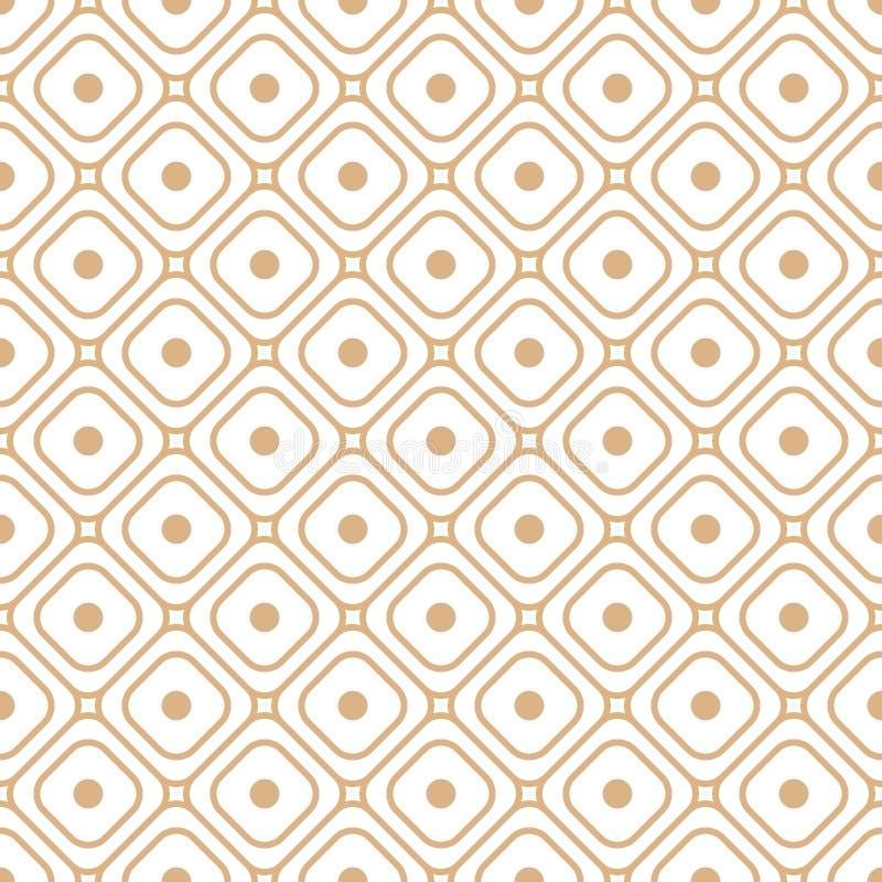 Bezszwowa tekstura z geometryczną siatką kształtuje wektor royalty ilustracja