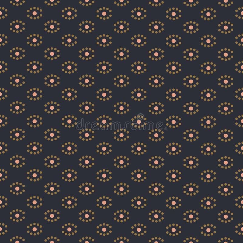 Bezszwowa tekstura z geometrycznymi kropkowanymi kształtami wektorowymi ilustracja wektor