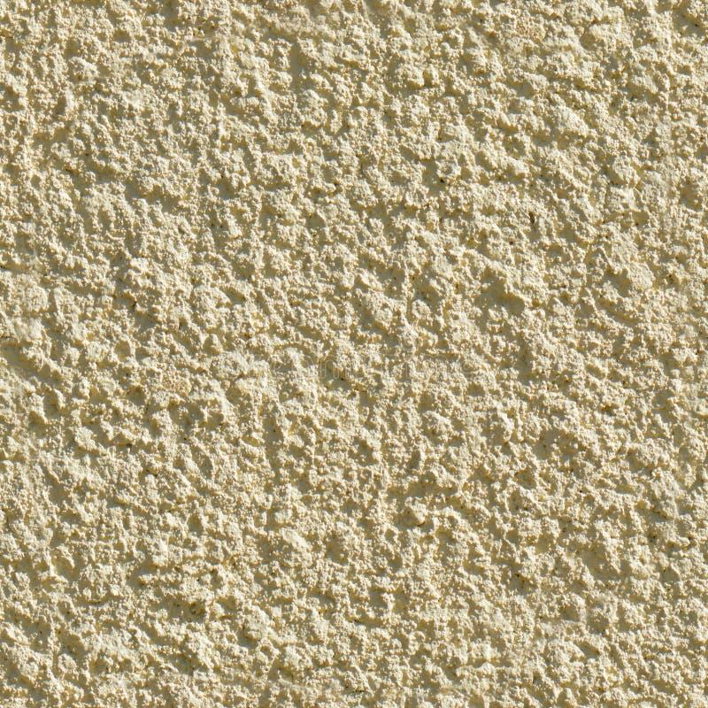 Bezszwowa Tileable tekstura Beżowa Dekoracyjna tynk ściana Wysokość Wyszczególniająca zdjęcie stock