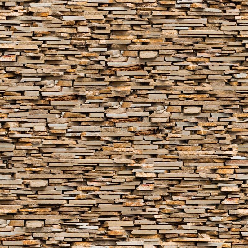 Bezszwowa tekstura Brown łupku kamienia powierzchnia. royalty ilustracja