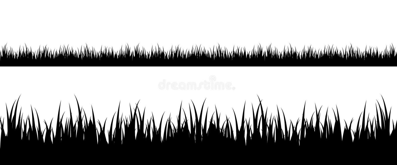 bezszwowa trawy sylwetka royalty ilustracja