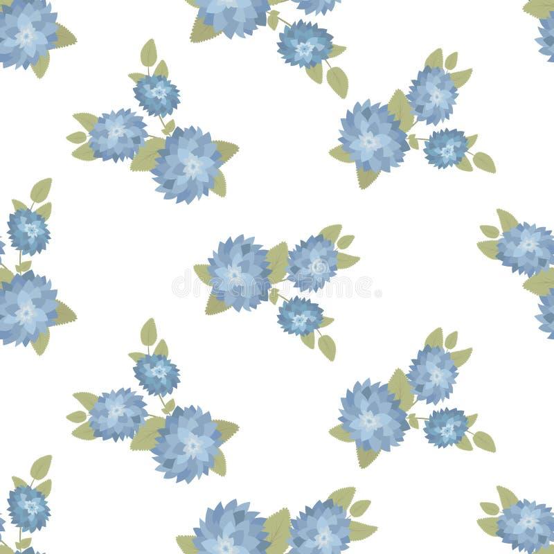 Bezszwowa wektorowa kwiecista tapeta Dekoracyjny rocznika wzór w klasyka stylu z kwiatami i gałązkami Dwa brzmień ornament ilustracji