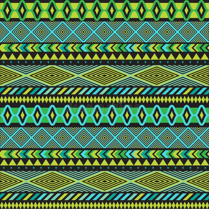 Bezszwowa wektorowa plemienna tekstura Plemienna bezszwowa tekstura Rocznika etniczny bezszwowy tło Boho lampasy Pasiasty rocznik ilustracji