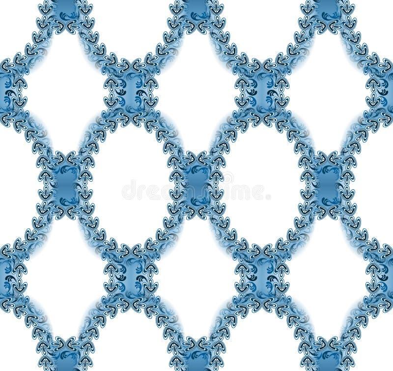 Bezszwowa Wiktoriańska owalu tła tekstura ilustracja wektor