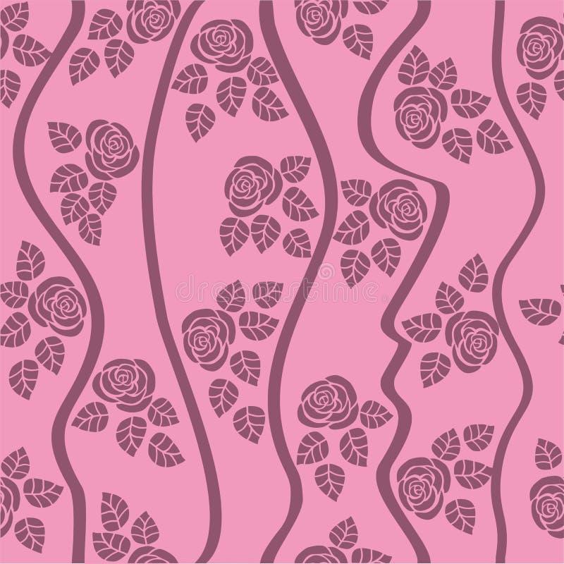 bezszwowa wzór róża ilustracja wektor