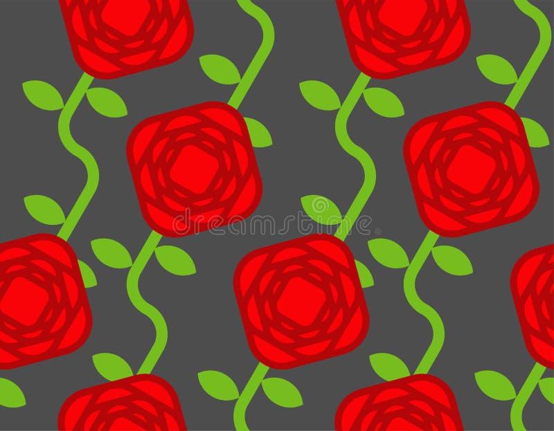bezszwowa wzór róża Różowy kwiatu tło Wektorowy illustrati ilustracja wektor