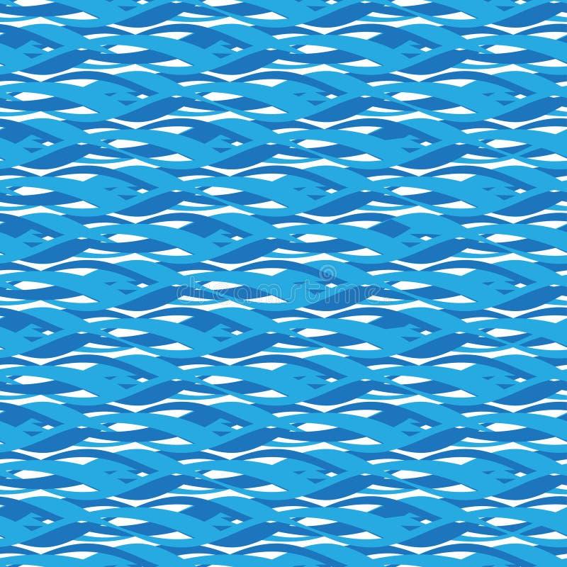 bezszwowa wzoru wody ilustracja wektor