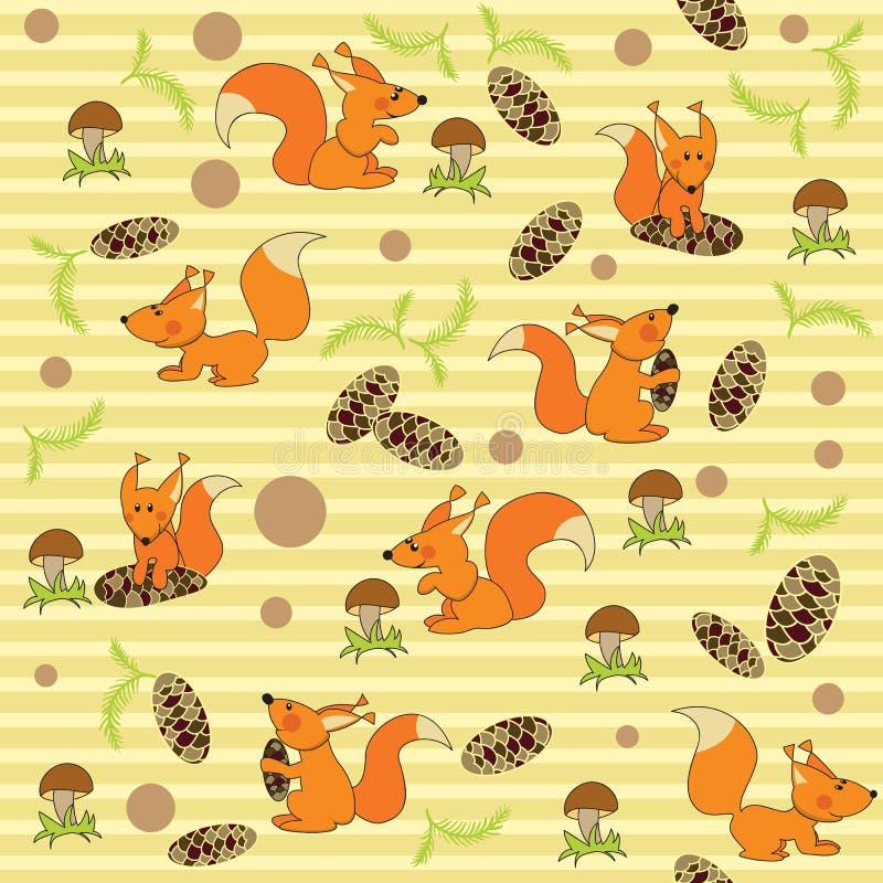 bezszwowa zabawy wiewiórka royalty ilustracja