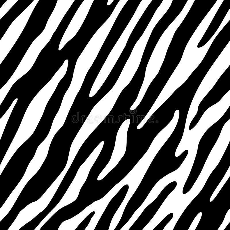 bezszwowa zebra tapetowa ilustracji