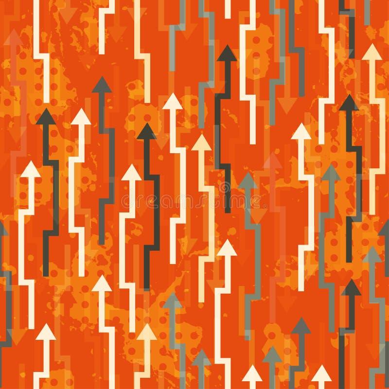 Bezszwowe abstrakcjonistyczne strzała ilustracja wektor