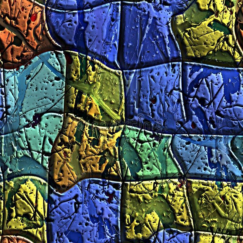Bezszwowe artystyczne płytki z farb pluśnięciami ilustracji