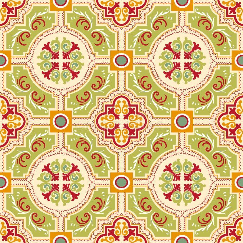 Bezszwowe colourful ornament płytki ilustracja wektor