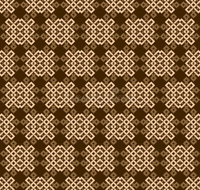 Bezszwowe deseniowe dekoracyjne symetrie, ornament deseniowa wektorowa ilustracja ilustracja wektor