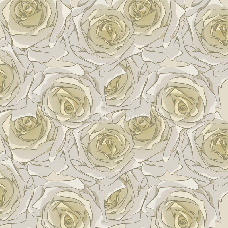 bezszwowe deseniowe róże ilustracji