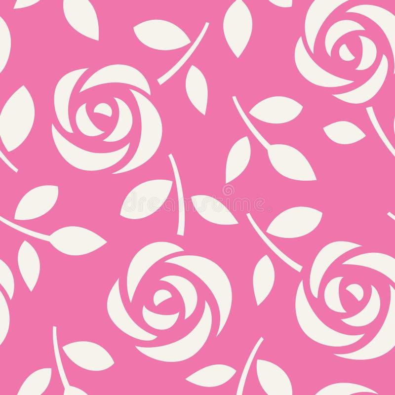 bezszwowe deseniowe róże tło kwiecisty abstrakcyjne również zwrócić corel ilustracji wektora Tapeta z ślicznymi kwiatami ilustracja wektor
