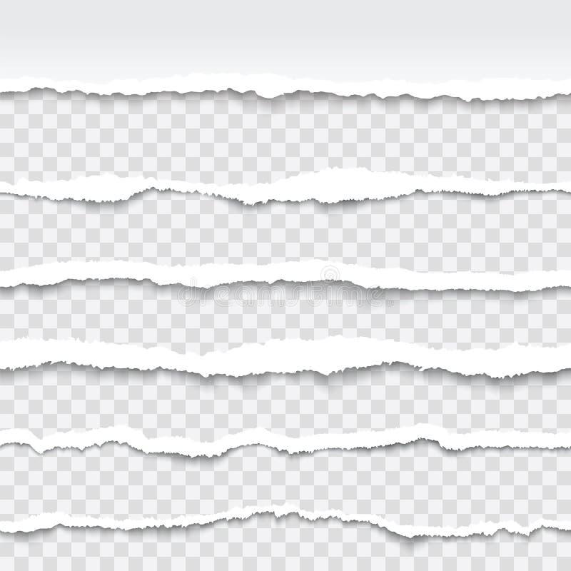 Bezszwowe drzeć papierowe krawędzie royalty ilustracja