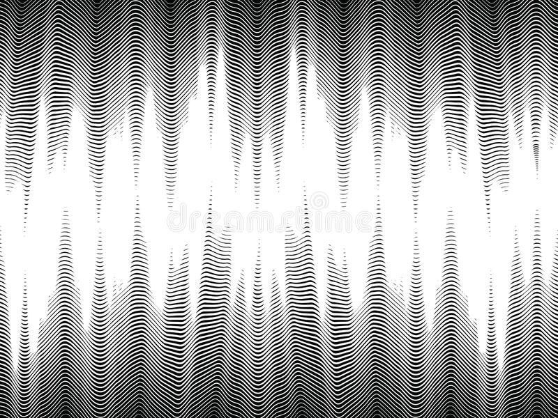 Bezszwowe halftone fale, futurystyczny abstrakcjonistyczny tło royalty ilustracja