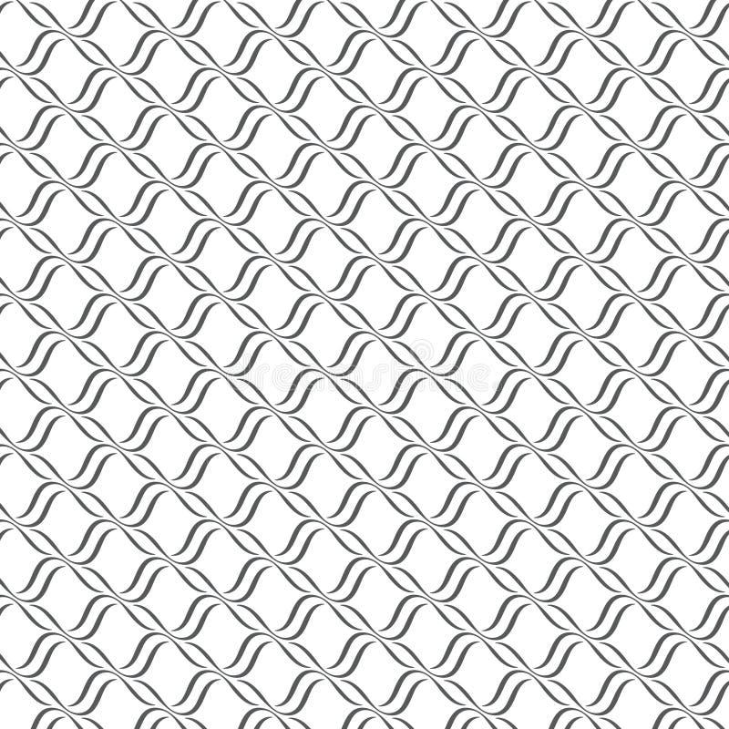 Bezszwowe linie z falistym wektoru wzorem ilustracji