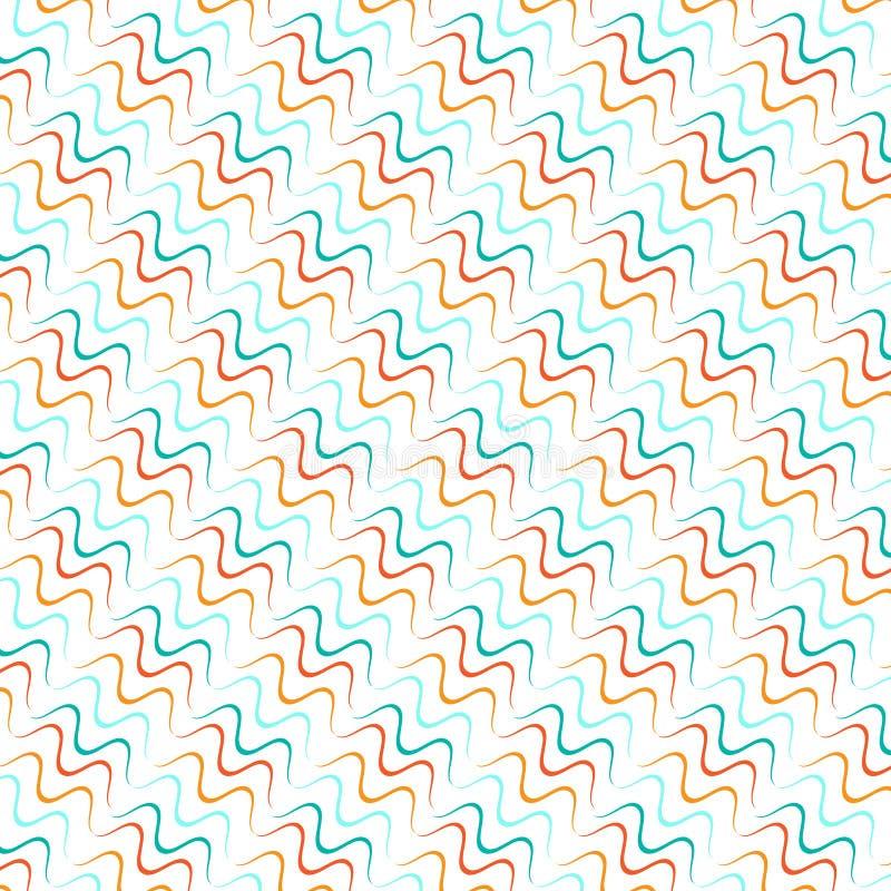Bezszwowe linie z koszowego wektoru wzorem ilustracji