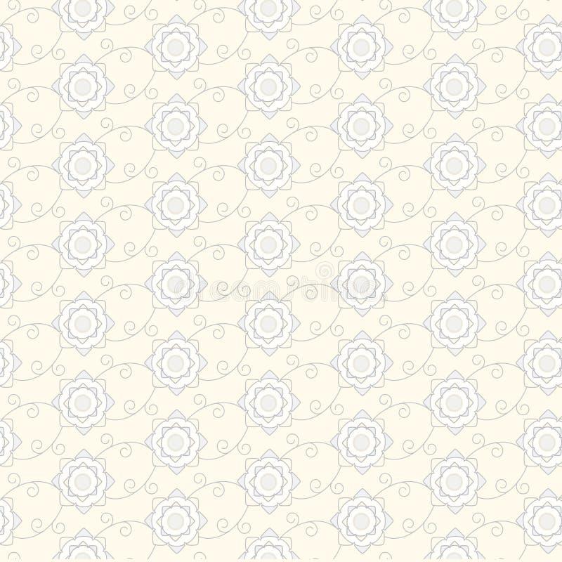 Bezszwowe linie z krzywa wzorem royalty ilustracja