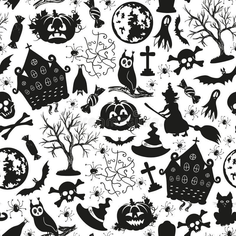 Download Bezszwowe Rysunkowe Ikony Dla Halloween Ilustracja Wektor - Ilustracja złożonej z magia, jesienny: 57664943