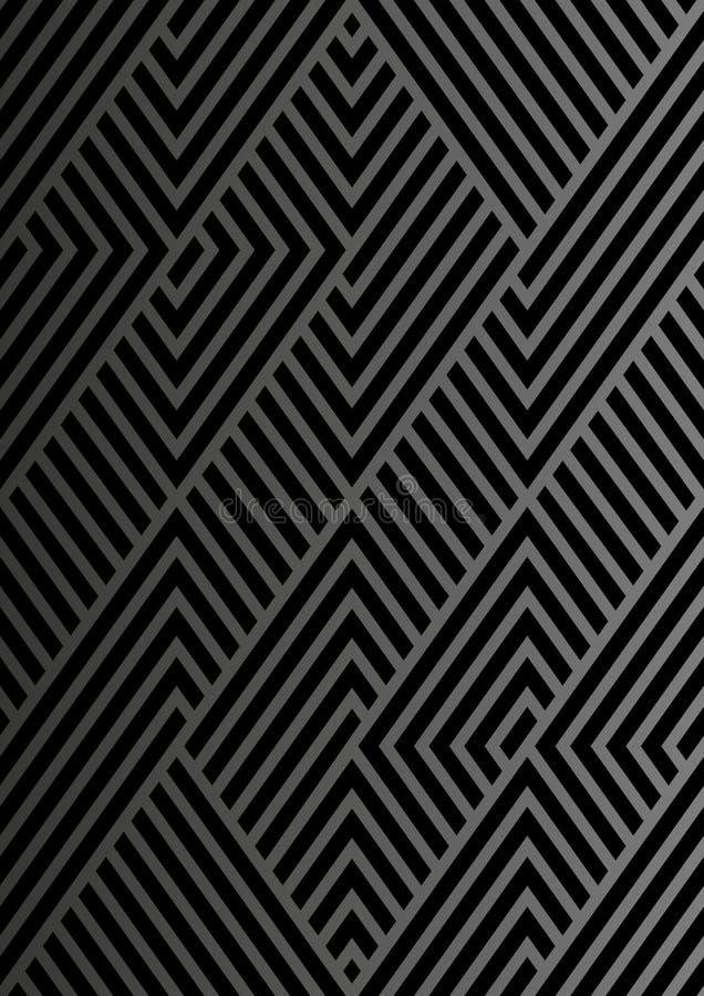 Bezszwowe siatek linie Prosty minimalistic wzór royalty ilustracja