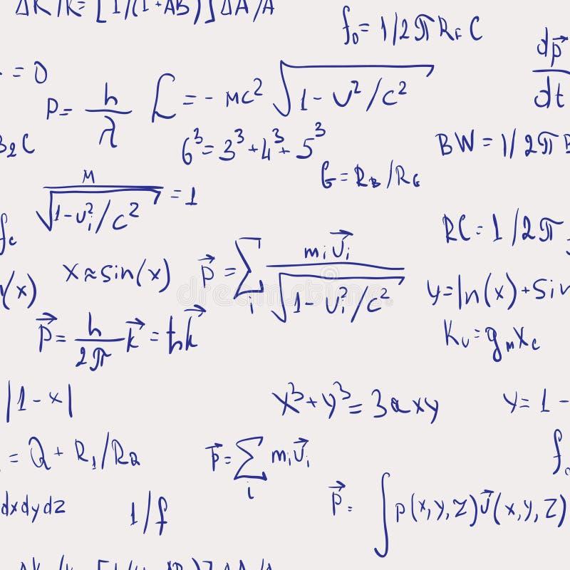 bezszwowe tło abstrakcjonistyczne formuły ilustracja wektor